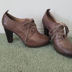 Frye Marissa oxford high heel shoe booties sz 8.5